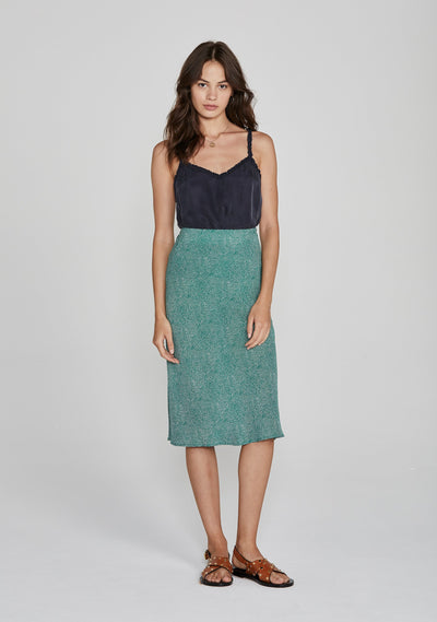 Diamond Bias Midi Skirt Green - Auguste The Label