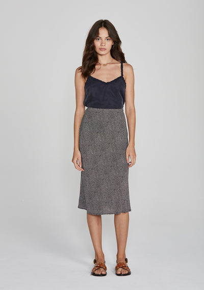 Diamond Bias Midi Skirt Black - Auguste The Label