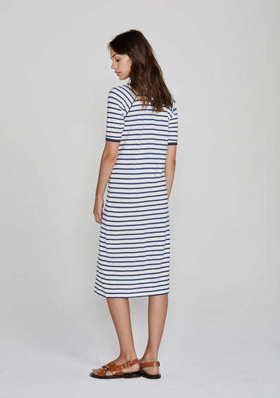 Sails Midi Dress Navy - Auguste The Label