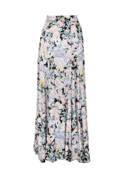 Gardenia Panelled Maxi Skirt Charcoal - Auguste The Label