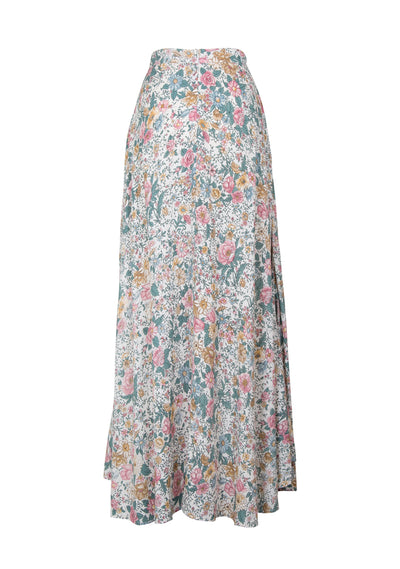 Spring Rose Wylde Maxi Skirt Natural - Auguste The Label