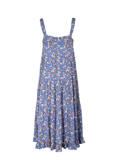 Matilda Market Midi Dress Blue - Auguste The Label