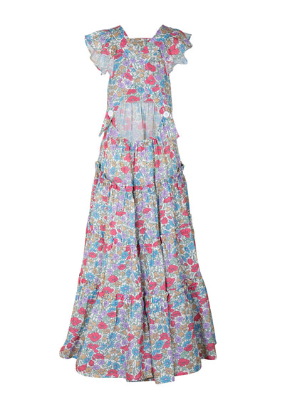 Frankie Pinafore Maxi Dress Natural - Little Auguste - Auguste The Label