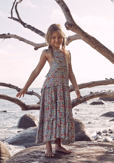 Frankie Pinafore Maxi Dress Natural