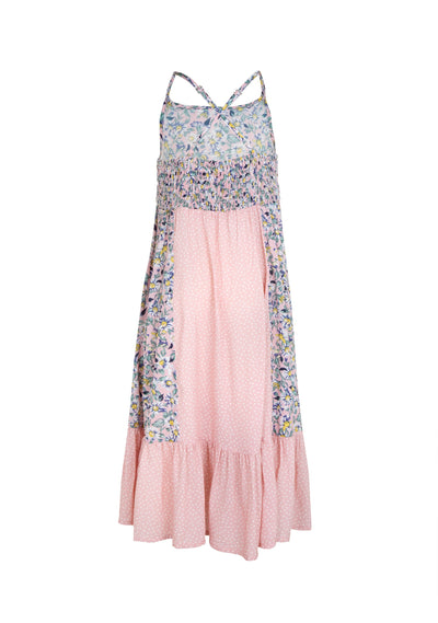 Daisy Honey Panelled Midi Dress Blush - Little Auguste - Auguste The Label