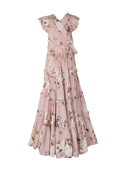 Pinafore Maxi Dress Musk Vintage Blooms - Little Auguste - Auguste The Label