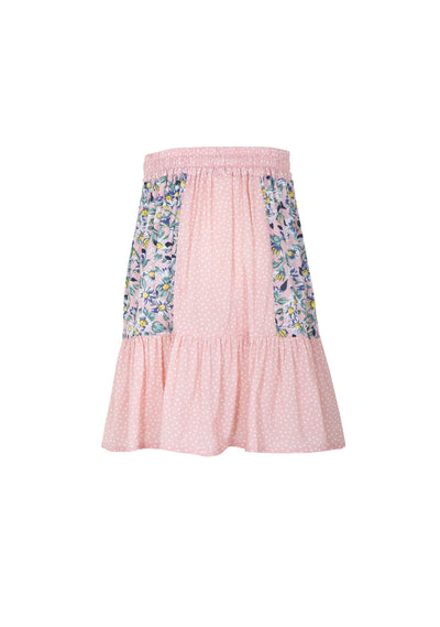 Daisy Salsa Panelled Mini Skirt Blush - Little Auguste - Auguste The Label