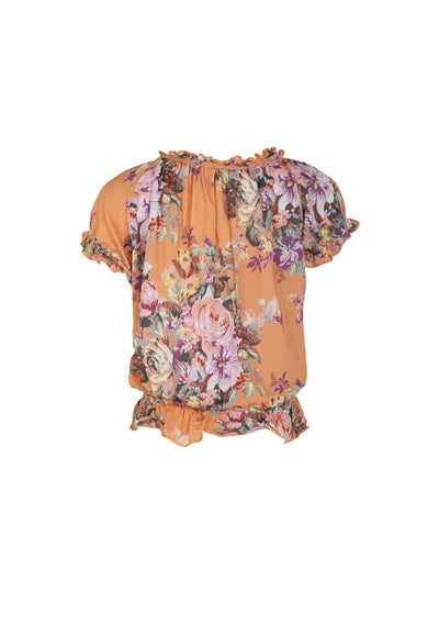 Bijoux Baby Boho Blouse Apricot - Little Auguste - Auguste The Label