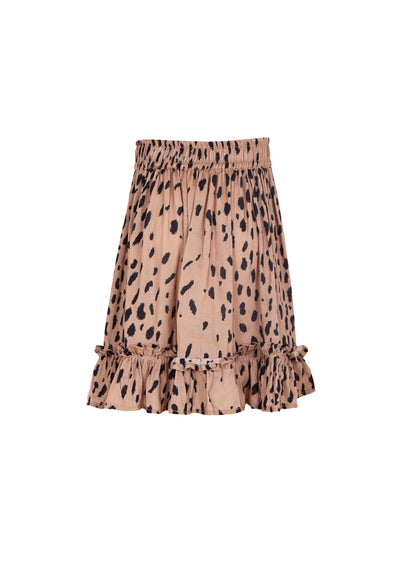 Safari Frill Hem Mini Skirt Tan - Little Auguste - Auguste The Label