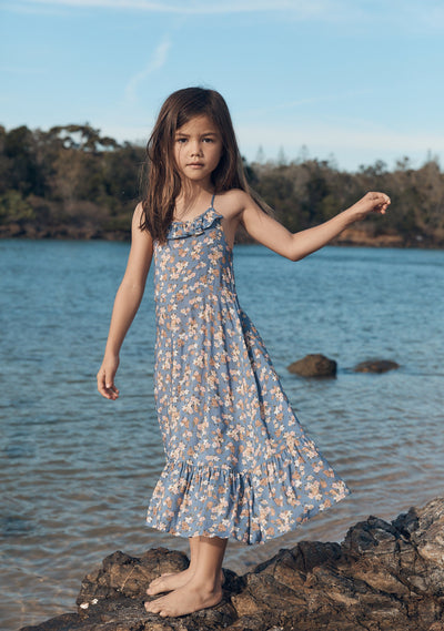 Matilda Honey Midi Dress Blue