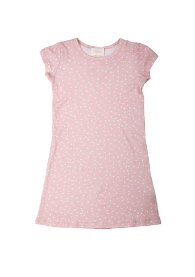Shooting Star Storytime Short Sleeve Nighty Blush - Little Auguste - Auguste The Label
