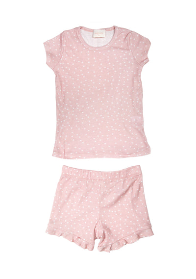Shooting Star Cuddly Short Sleeve Sleep Set Blush - Little Auguste - Auguste The Label