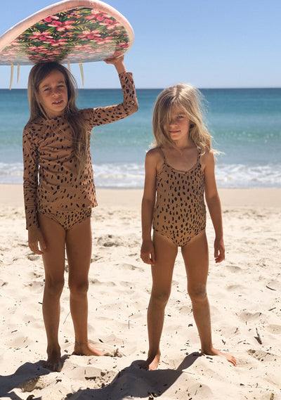 Safari Leotard One Piece Tan - Little Auguste - Auguste The Label