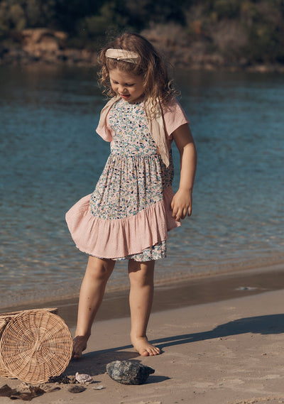 Daisy Salsa Mini Dress Blush - Little Auguste - Auguste The Label
