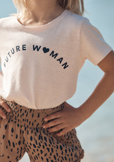 Future Woman Tee Blush - Little Auguste - Auguste The Label