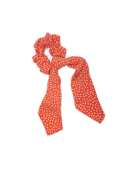 Florence Little Auguste Bow Scrunchie Rust - Little Auguste - Auguste The Label