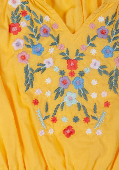 Twiggy Embroidered Blouse Mango - Little Auguste - Auguste The Label
