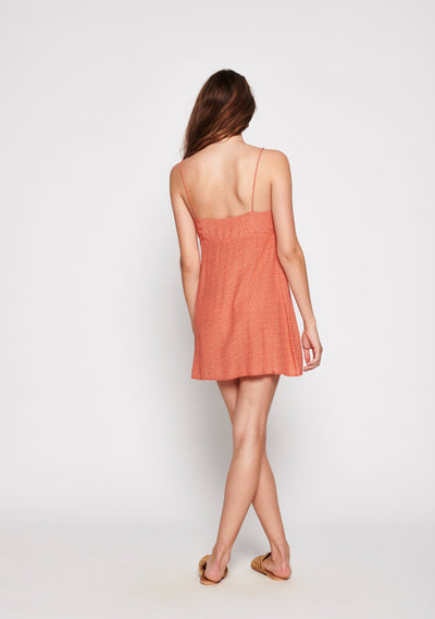 Florence Tie Slip Mini Dress Rust - Auguste The Label