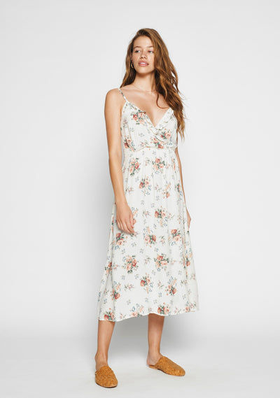 Rose Amore Midi Dress White - Auguste The Label