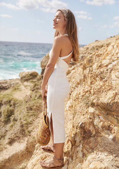 Sunset Midi Dress White - Auguste The Label
