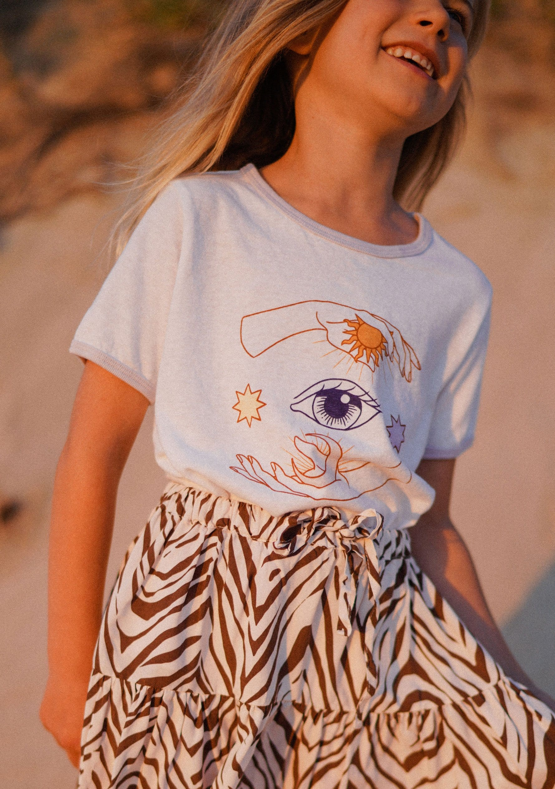Whimsical Hands Ringer Tee White