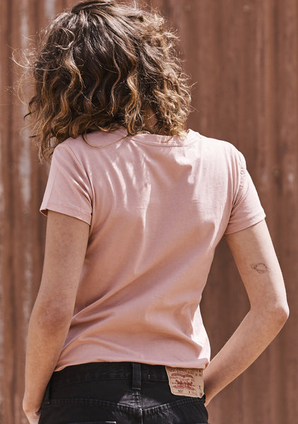 Basic Crew Neck Tee Pale Pink