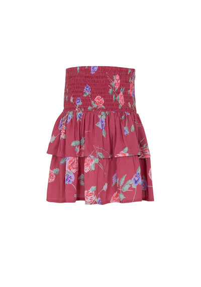 Rosa Amelia Mini Skirt Crimson - Little Auguste - Auguste The Label