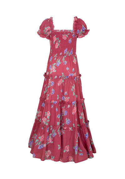 Rosa Amelia Maxi Dress Crimson - Little Auguste - Auguste The Label
