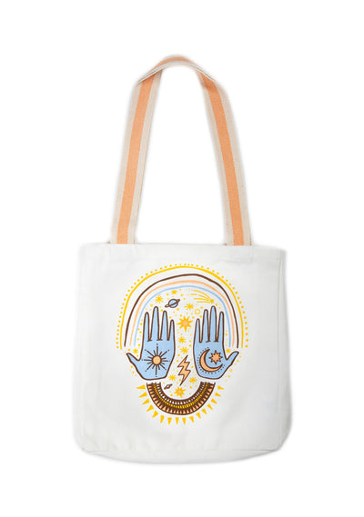 Cosmic Palms Tote Bag Natural - Little Auguste - Auguste The Label