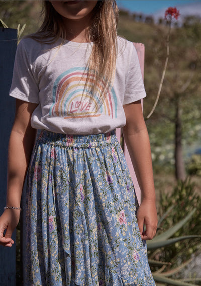 Love Rainbow Tee White - Little Auguste - Auguste The Label