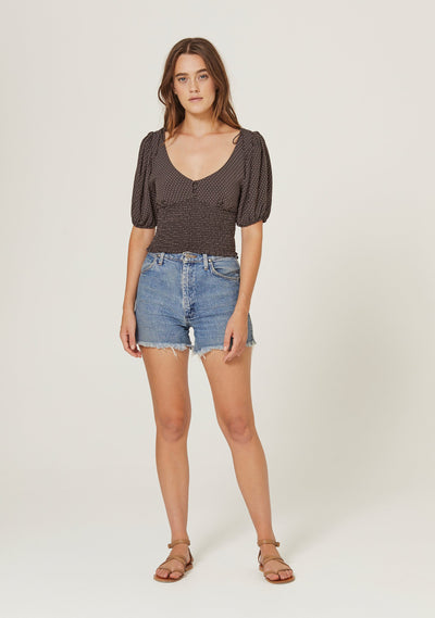 Pippi Juliette Blouse Charcoal - Auguste The Label