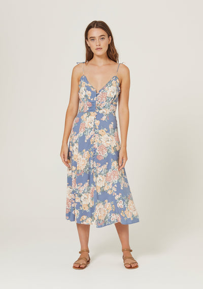 Cottage Rituals Midi Dress Blue - Auguste The Label