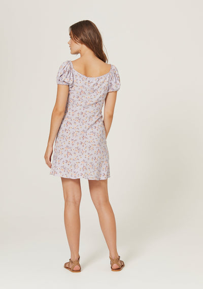 Eloise Penn Mini Dress Violet - Auguste The Label