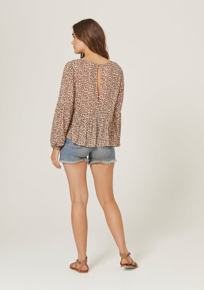 Nomad Helena Blouse Tan - Auguste The Label