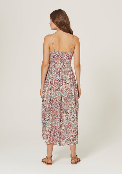 Paisley Staple Midi Dress Blush - Auguste The Label