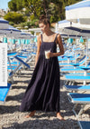 Margot Wren Strap Maxi Dress Midnight Navy - Auguste The Label
