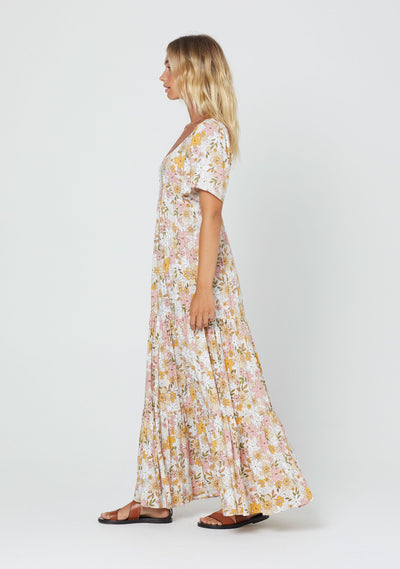 Delilah Lou Maxi Dress Blush - Auguste The Label