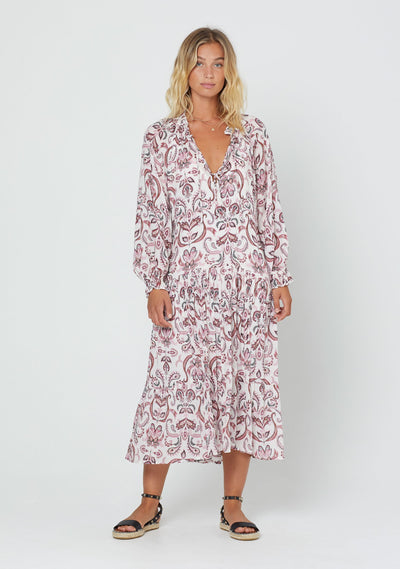 Hayden Florence Midi Dress Off White - Auguste The Label