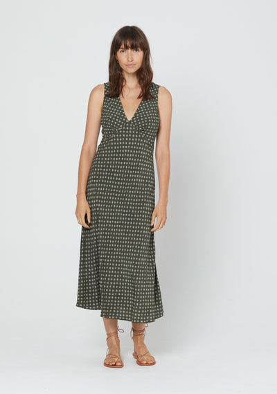 Dillion Lara Midi Dress Khaki