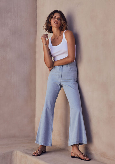 Vann Bambi Pant Chambray - Auguste The Label