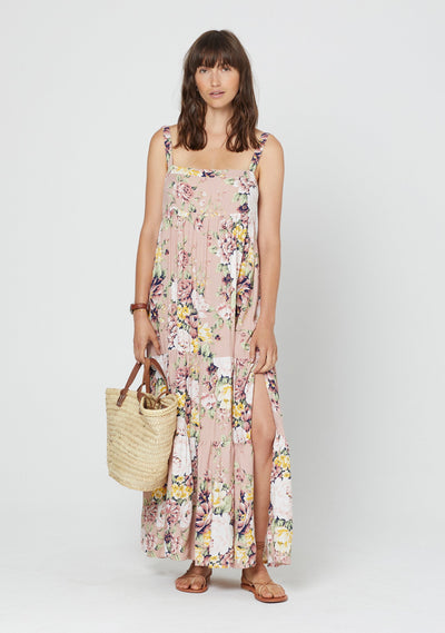 Sadie Vivienne Strappy Maxi Dress Blush - Auguste The Label
