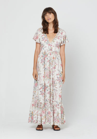 Gabrielle Milan Maxi Dress Ivory - Auguste The Label