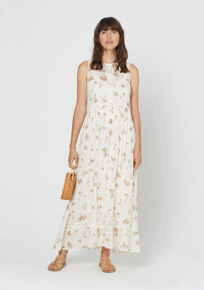Isla Lane Maxi Dress Cream - Auguste The Label