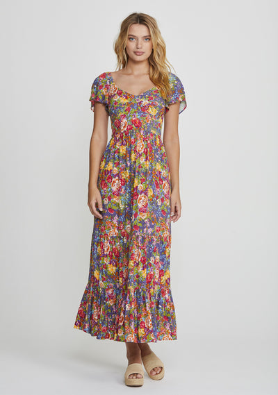 Magnolia Bella Maxi Dress Purple - Auguste The Label