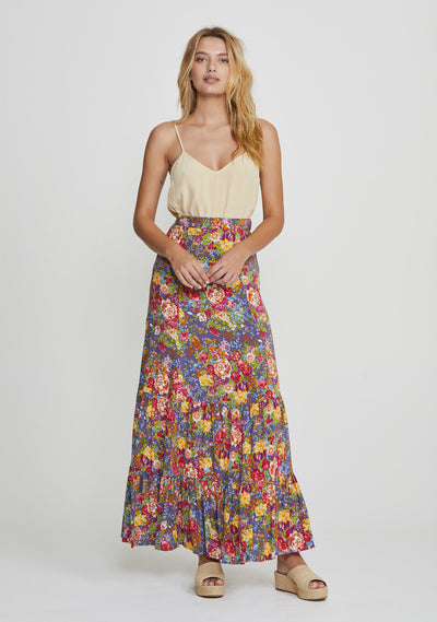Magnolia Violet Maxi Skirt Purple - Auguste The Label