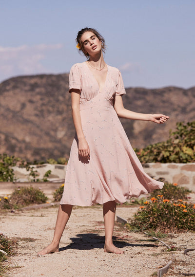 Clementine Bonne Midi Dress Blush - Auguste The Label