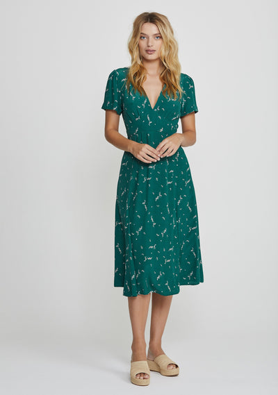 Clementine Bonne Midi Dress Emerald - Auguste The Label