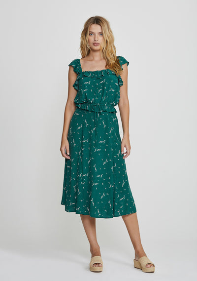 Clementine Bonne Midi Skirt Emerald - Auguste The Label