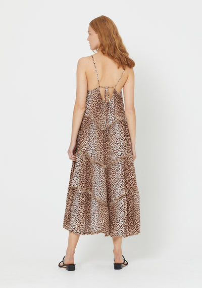 Nico Dunes Midi Dress Natural - Auguste The Label