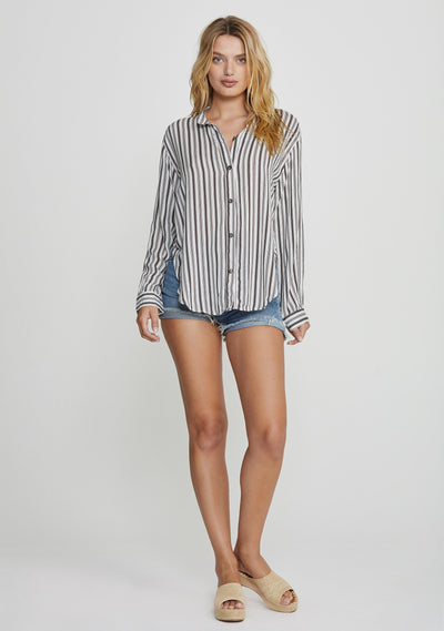 Martin Boyfriend Shirt Black - Auguste The Label
